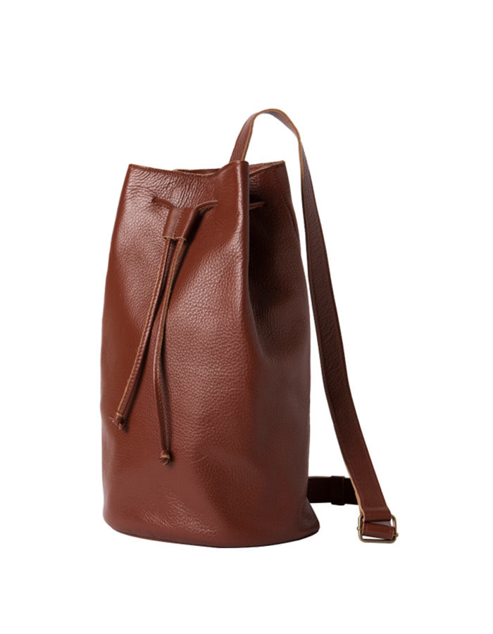 article) single bucket bag - brown