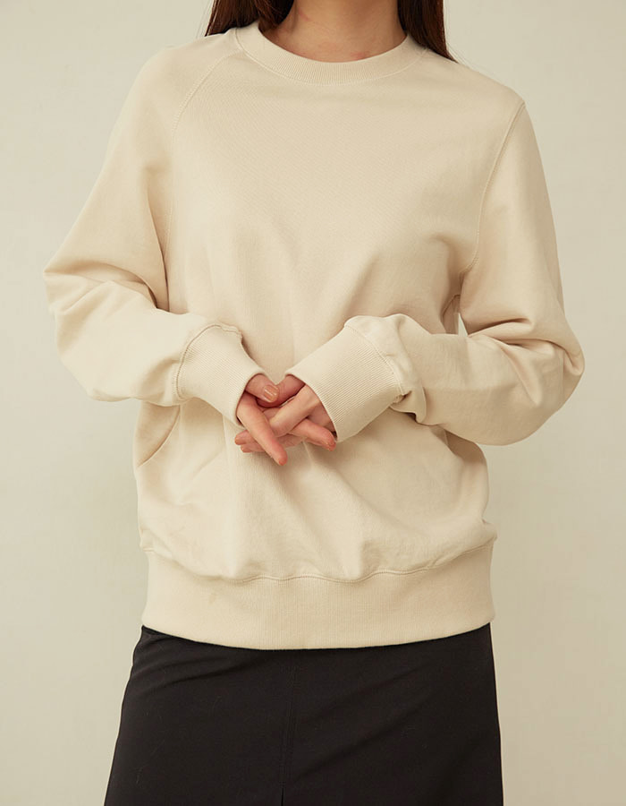 al,thing) half sweat shirt - ivory(B급) - 재고 2